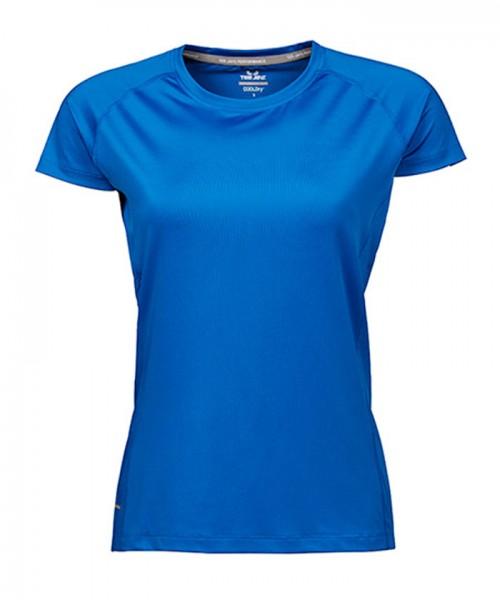 Sport T-Shirt Damen blau